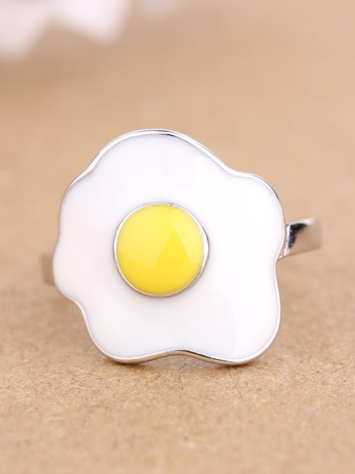 Peng Yuan Personalized Egg Silver Opening Ring 2