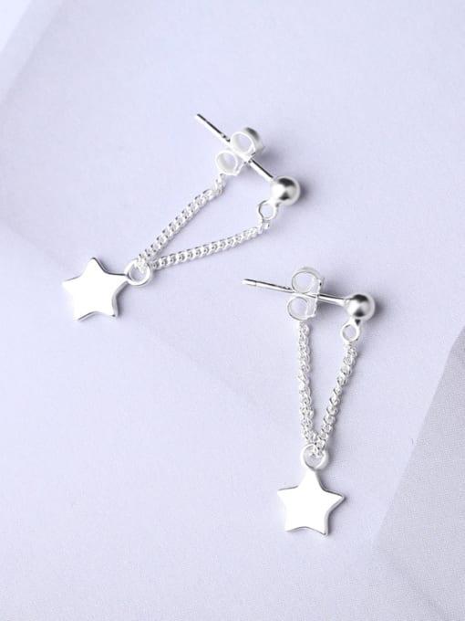 Peng Yuan Simple Five-pointed Star Stud Earrings 0