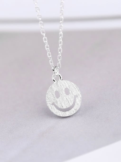 Peng Yuan Tiny Smiling Face Silver Necklace 3