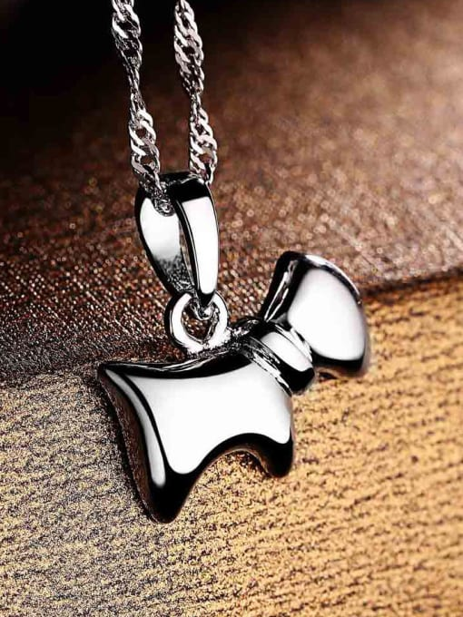 One Silver 925 Silver Dog Shaped Pendant 1