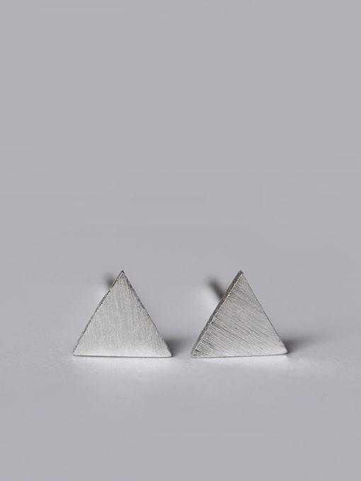 SILVER MI Lovely Geometric Small Stud Earrings 1