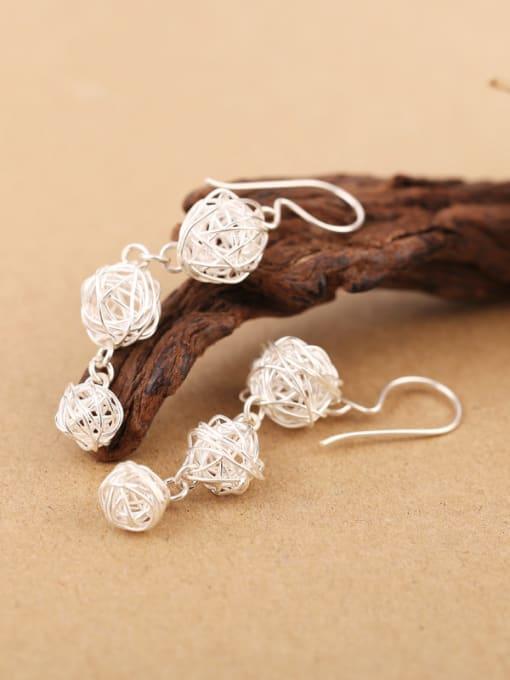Peng Yuan Elegant Handmade Sterling Silver hook earring 3