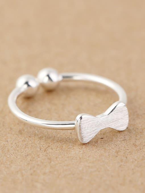 Peng Yuan Tiny Bowknot Beads Opening Ring 2