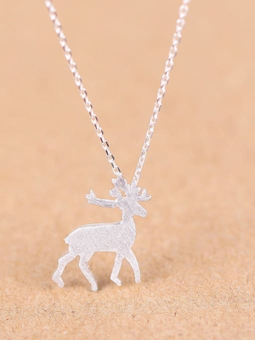 Peng Yuan Fashion Mini-deer Silver Necklace