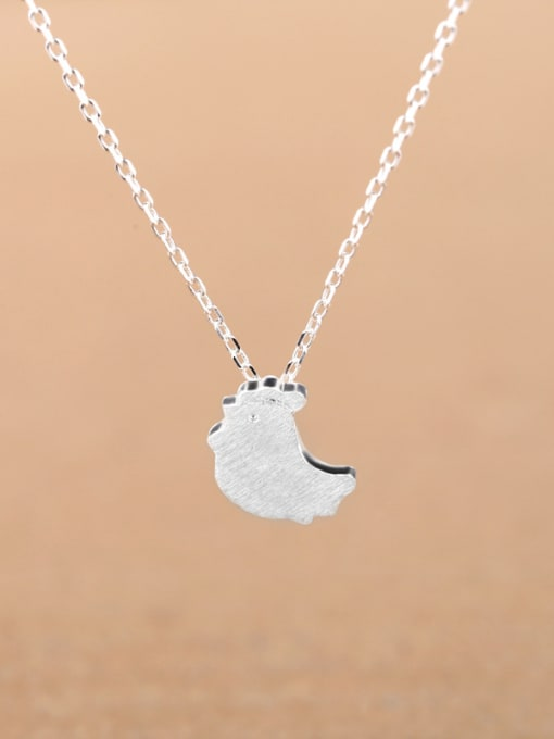 Peng Yuan Simple Little Chick Silver Necklace 0