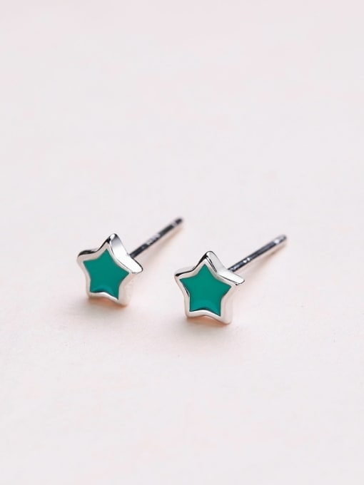 Green Women Fresh Star Shaped stud Earring