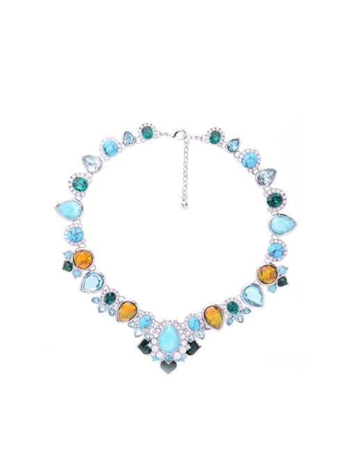 KM Shining Irregular Stones Women Necklace
