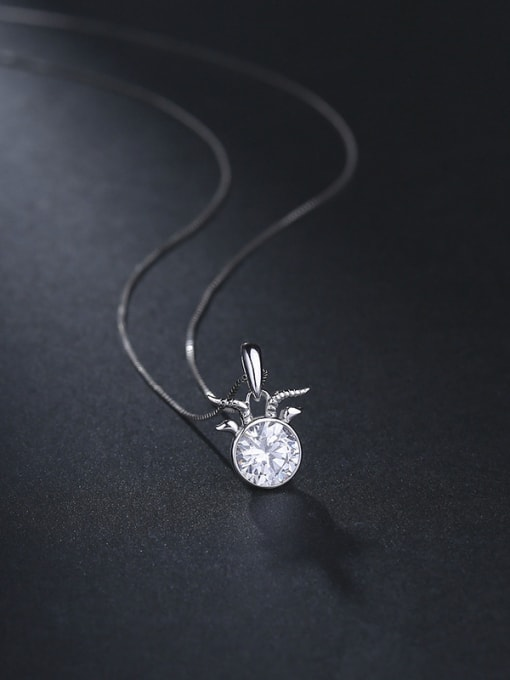 C Fashion 925 Silver Geometric Pendant