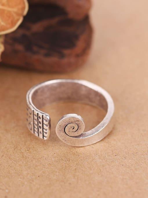 Peng Yuan Thai Ethnic style Handmade Silver Ring 2