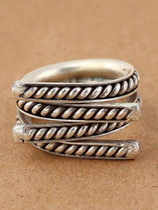 Peng Yuan Personalized Silver Handmade Opening Ring