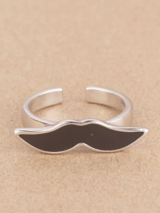 Peng Yuan Personalized Black Mustache Opening Ring 0