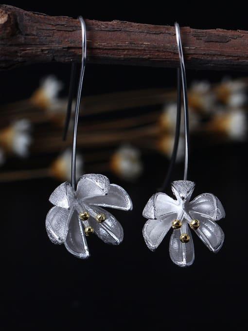 SILVER MI S925 Silver Fashion Women Hook hook earring