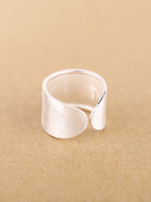 Peng Yuan Personalized Flower Silver Opening Ring 2