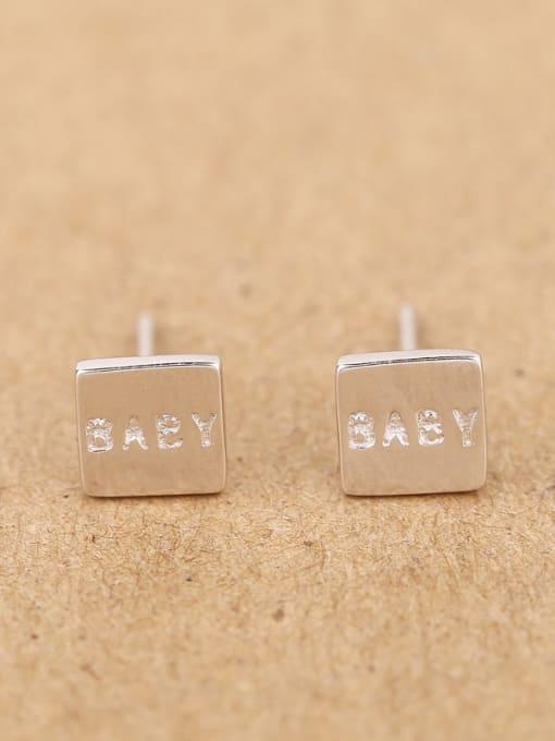 Peng Yuan Simple Tiny Square stud Earring