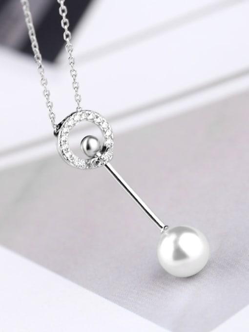 Peng Yuan Fashion Freshwater Pearl Silver Necklace 2