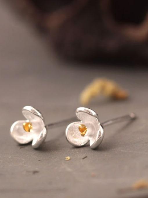 SILVER MI Orchid S925 Silver stud Earring 1