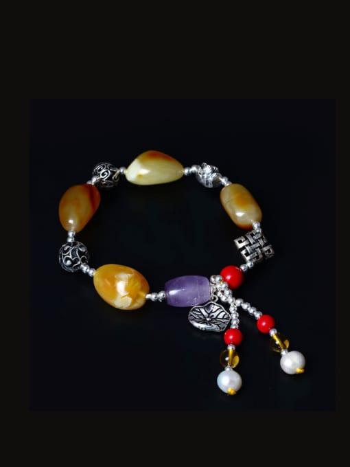 SILVER MI Colorful Festival National Tassel Bracelet 0