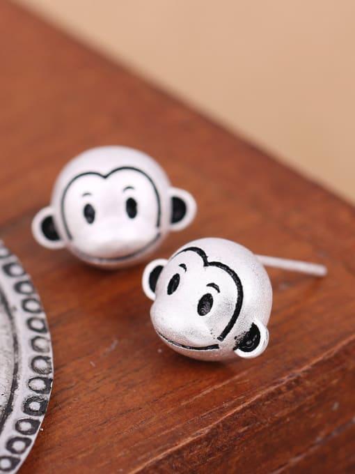 Peng Yuan Lovely Monkeys Silver stud Earring 3