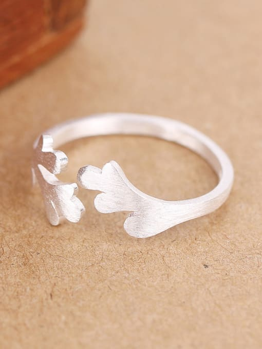 Peng Yuan Simple Antler Silver Opening Midi Ring 1