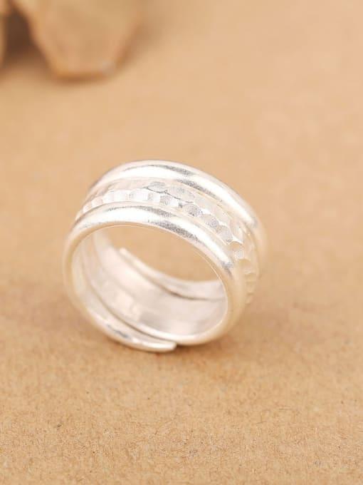 Peng Yuan Simple Sterling Silver Handmade Ring 3