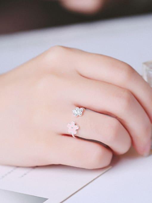 Peng Yuan Tiny Flowers Zircon Opening Ring 2