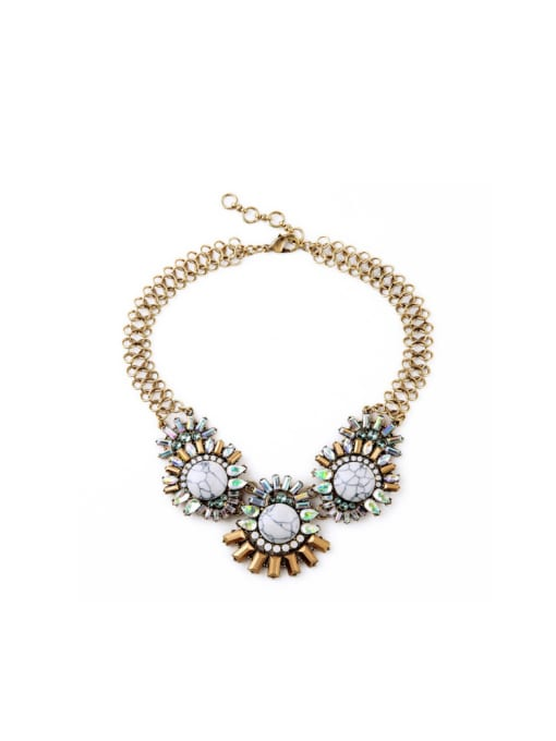 KM Western style Artificial Stones Women Necklace