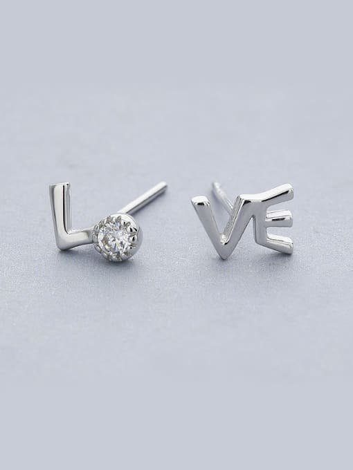 One Silver All-match Letters Shaped Stud cuff earring