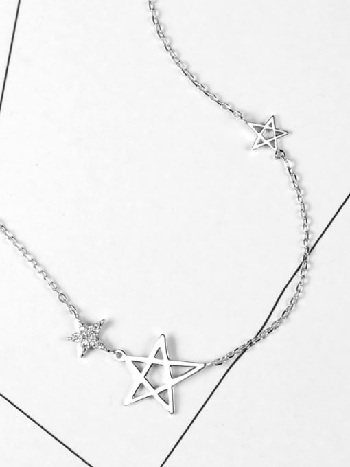 Peng Yuan Fashion Stars Zircon Silver Necklace 2