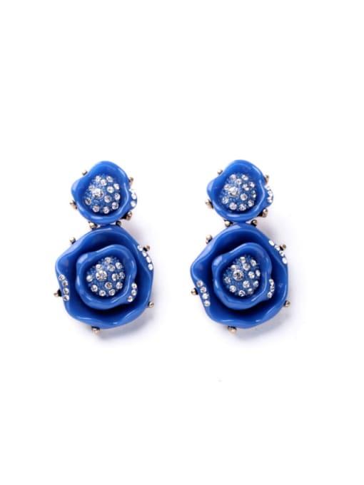 KM Color Rhine Flower-shape stud Earring