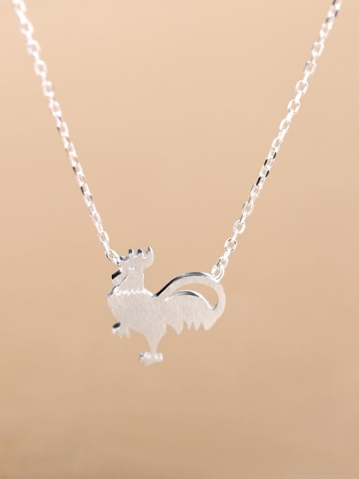 Peng Yuan Personalized Tiny Rooster Silver Necklace 0