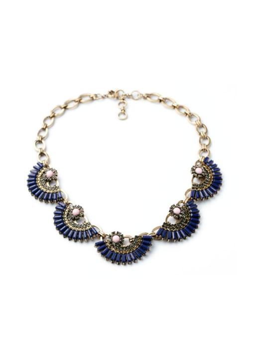 KM Luxury Fan-shape Women Necklace