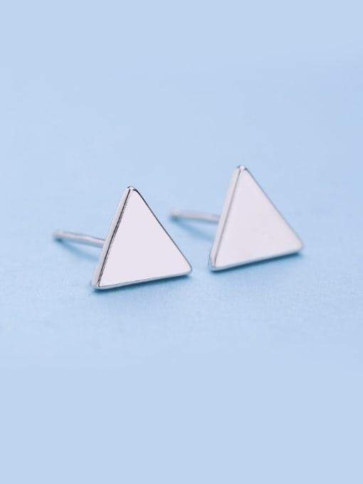One Silver Women Trendy Triangle Shaped stud Earring