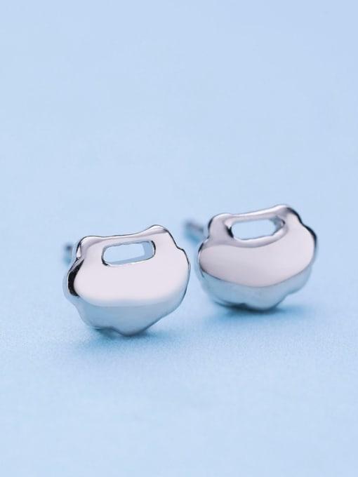 One Silver 925 Silver Cloud Shaped stud Earring 3
