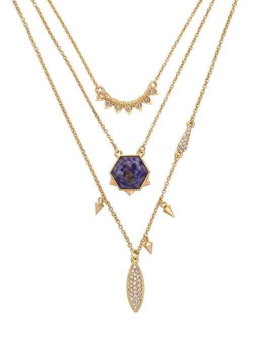 KM Fresh Simple Multi-layer Necklace 1