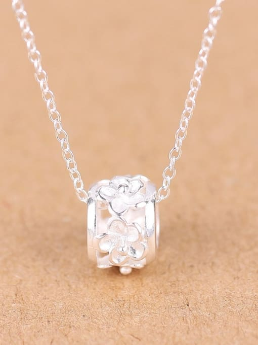 Peng Yuan Fashion Silver Flower Ring Necklace