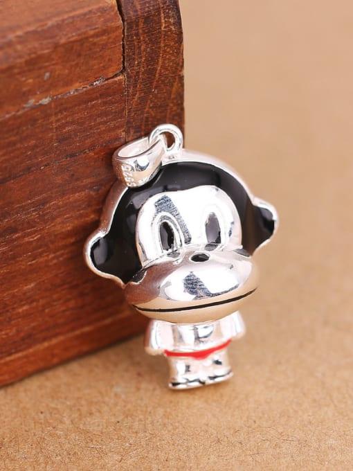 Peng Yuan Lovely Little Monkey Silver Pendant 2