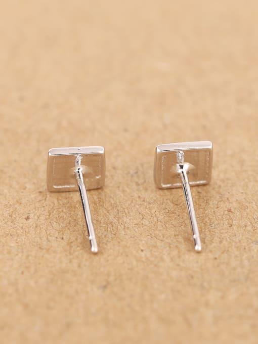 Peng Yuan Simple Tiny Square stud Earring 2