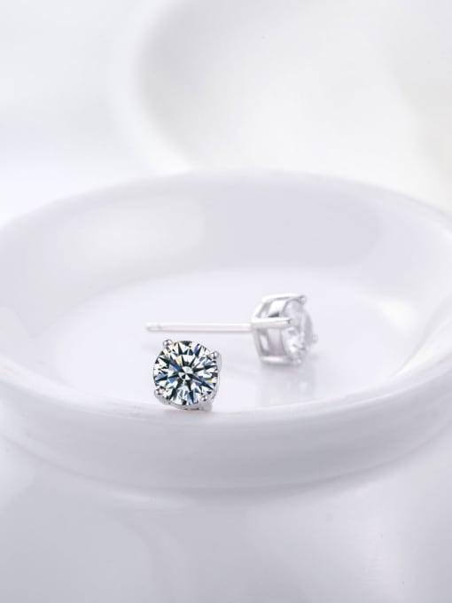 A Women 925 Silver Elegant stud Earring