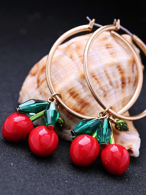 KM Western Style Cherry Women drop earring 2