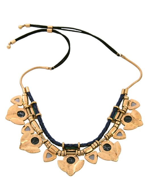 KM Exaggerate Natural Stones Women Necklace 1
