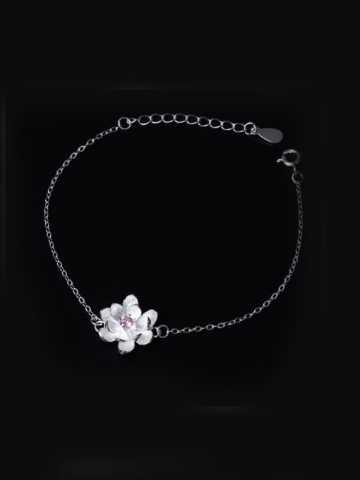 SILVER MI Natural Small Fresh Flowers Bracelet