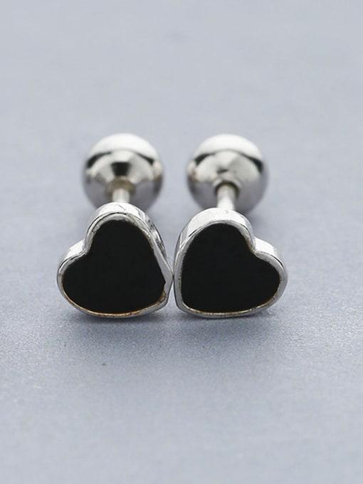 Black 2018 Women Delicate Heart Shaped Earrings
