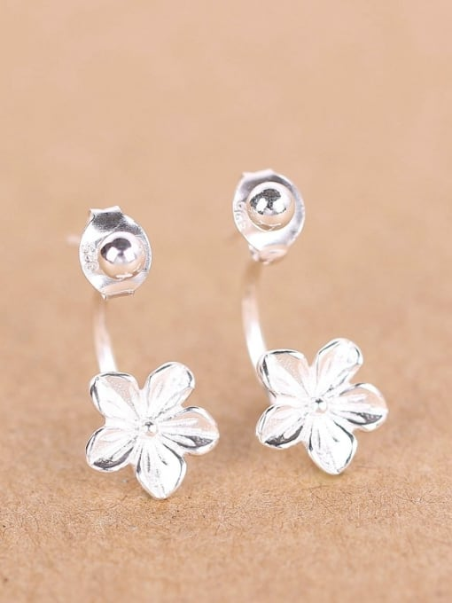 Peng Yuan 2018 Fashion Flower Silver stud Earring 0