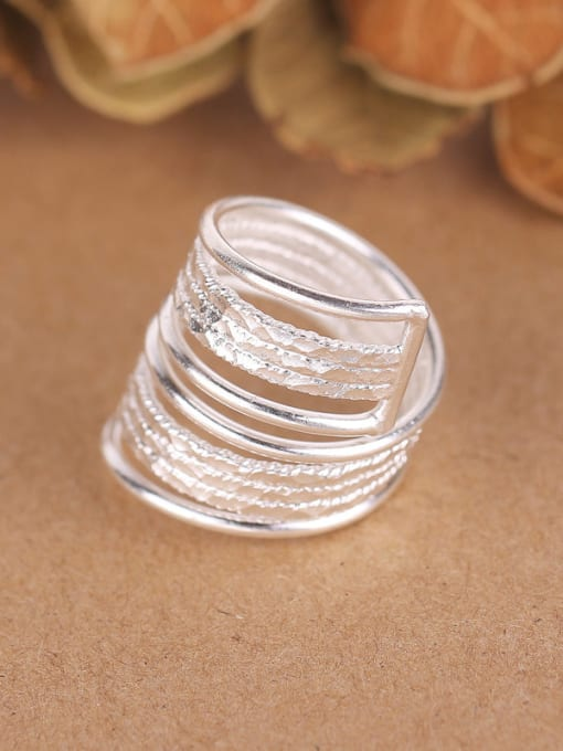 Peng Yuan Exaggerated Personalized Silver Opening Ring 1
