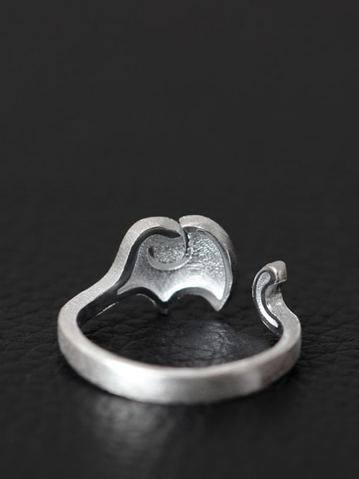 SILVER MI Elephant Fashion S925 Silver Opening Ring 2