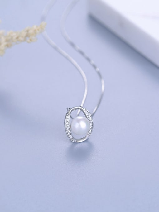 One Silver 925 Silver Freshwater Pearl Pendant 0