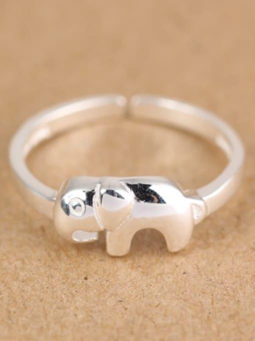 Peng Yuan Simple Little Elephant Opening Midi Ring 0