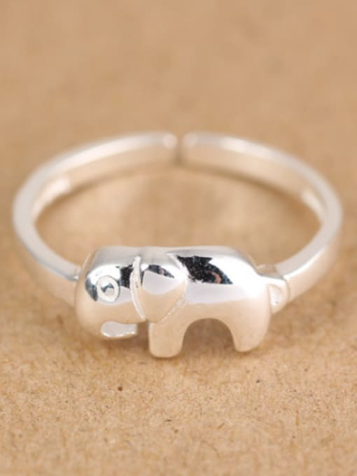 Peng Yuan Simple Little Elephant Opening Midi Ring