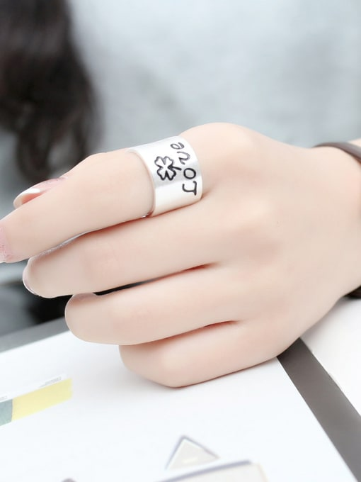 Peng Yuan Personalized LOVE Silver Opening Ring 1