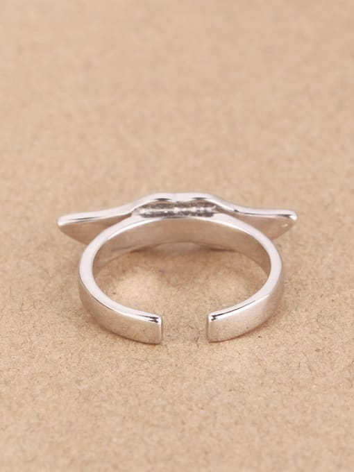 Peng Yuan Personalized Black Mustache Opening Ring 2